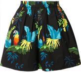 Marc Jacobs parrots print shorts - women - Cotton/Spandex/Elastane - 2