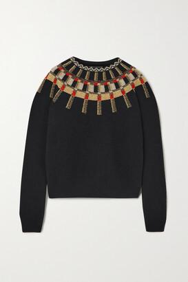 Lanvin - Metallic Fair Isle Wool Sweater - Black