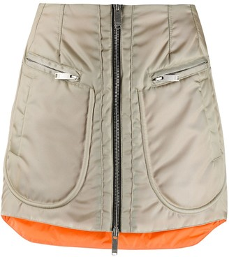 Marcelo Burlon County of Milan Bomber Zip-Up Miniskirt