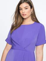 Printed Draped Front Dress