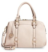 Linea Pelle Faux Leather Satchel - Pink