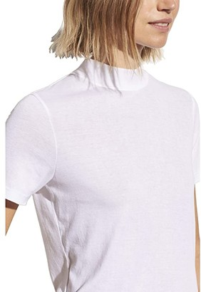 Vince Short Sleeve Mock Neck Tee (Optic White) Women's Clothing