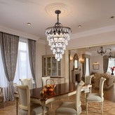 House Of Hampton Patel 4 - Light Unique Tiered Chandelier Crystal Accents House of Hampton
