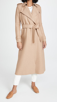 Harris Wharf London Long Pressed Wool Trench Coat