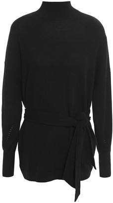 Zimmermann Belted Wool-blend Turtleneck Sweater