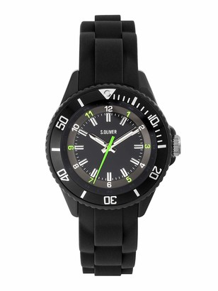 S'Oliver Unisex Child Analogue Quartz Watch with Silicone Strap SO-3638-PQ