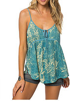 O'Neill Angelia Floral Printed Tie-Front Tank Top