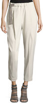 Brunello Cucinelli Slouchy Pull-On Pants w/ Luxury Belt