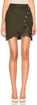Self-Portrait Utility Mini Skirt