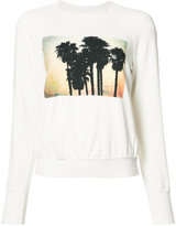 NSF palm tree print sweatshirt - women - Cotton/Spandex/Elastane/Modal - XS