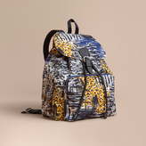 Burberry British Seaside Print Technical Packaway Rucksack, Yellow