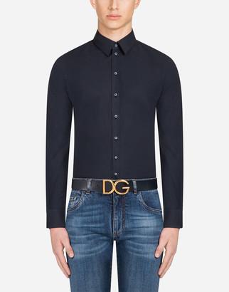 Dolce & Gabbana Sicilia-Fit Shirt In Stretch Poplin
