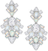 Swarovski Silver-Tone Crystal Cluster Drop Earrings