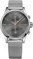 Hugo Boss Black Hugo Boss Black Jet Grey Multi Dial Stainless Steel Mesh Bracelet Mens Watch