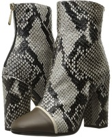 Just Cavalli Python Printed High Heel Ankle Bootie Women's Boots