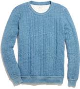 Madewell Indigo Ink Quilted Sweatshirt