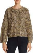 Freeway Marled Lace-Up Sweater