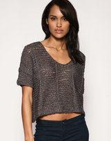 Chunky Yarn Crop Knit