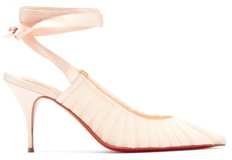 Christian Louboutin Goya Ruban Pleated Tulle Pumps - Light Pink