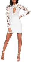 Missguided Women's Lace Cutout Body-Con Dress