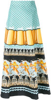 Temperley London Foxglove printed midi skirt - women - Cotton/Viscose - 8