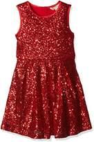 Yumi Girl's Sequin Skater Dress