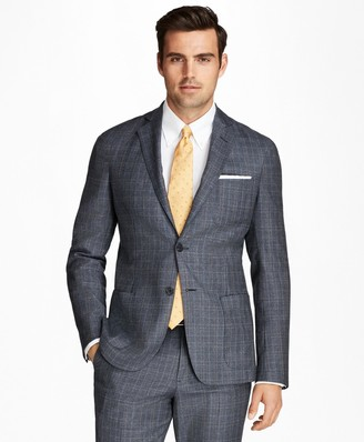 Brooks Brothers Regent Fit BrooksCloud Flannel Plaid with Windowpane 1818 Suit