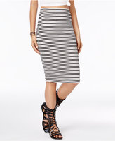 Roxy Juniors' Call Up In Dreams Striped Pencil Skirt