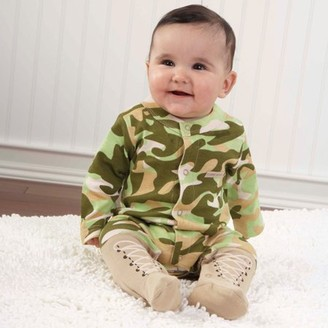 "Baby Aspen Big Dreamzzz Baby Camo Two-Piece Layette Set in ""Backpack"" Gift Box 0-6mo."