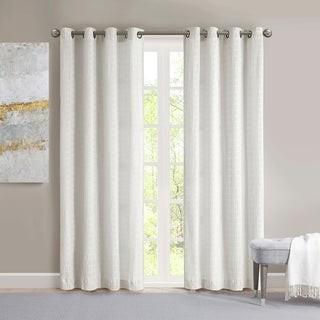 Madison Home USA Bassi Crinkle Matte Satin Single Curtain Panel