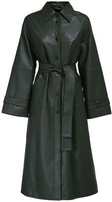 Romy Leather Trench Coat W/ Belt