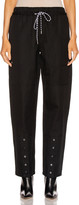 Proenza Schouler White Label Drawstring Pant in Black | FWRD