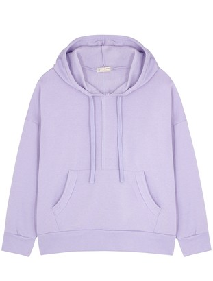 FREE PEOPLE MOVEMENT Work It Out lilac cotton-blend sweatshirt