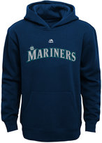 Majestic Kids' Seattle Mariners Wordmark Fleece Hoodie