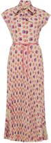 Luisa Beccaria Short Sleeve Stretch Cotton Shirt Dress
