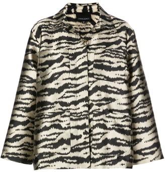 Cynthia Rowley Hensley zebra utility jacket