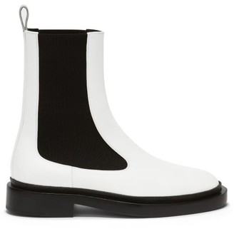Jil Sander Leather Chelsea Boots - White