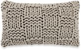 Kenneth Cole New York Dovetail Basket Knit Oblong Throw Pillow in Grey