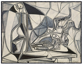 McGaw Graphics Goatâs Skull, Bottle and Candle, 1952 by Pablo Picasso (Framed)