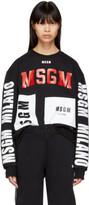 MSGM Black Multi Logo Sweatshirt