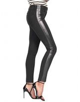 Black Orchid Carmen High-Rise Ankle Fray Jeans w/ Foil Stripes