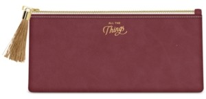 """Designworks Ink """"All The Things"""" Vegan Leather Pouch"""