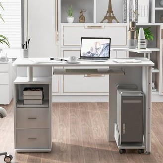 Latitude Run Desk with Keyboard Tray and Drawers