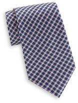 Saks Fifth Avenue Plaid Check Silk Tie