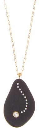 Cvc Stones Odyssey Diamond & 18kt Gold Necklace - Black