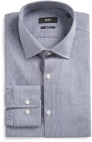 BOSS Men's Marley Slim Fit Check Dress Shirt