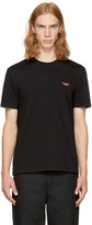 Stella McCartney Black no Smile No Service Lips T-shirt