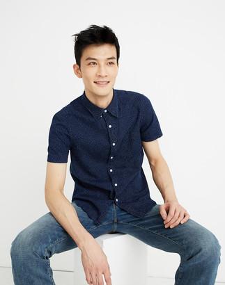 Madewell Short-Sleeve Button-Down Shirt in Indigo Dots