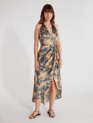 ELLEJAY Grace Wrap Midi Dress