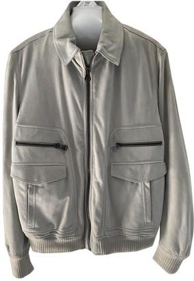 Salvatore Ferragamo Grey Suede Jackets